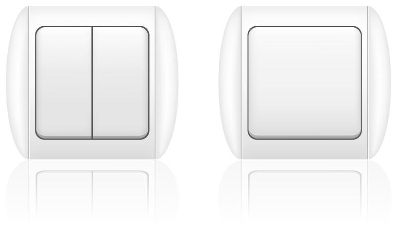 illustrazione vettoriale di interruttore della luce elettrica