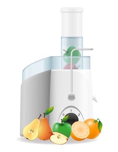 elektrische keuken juicer vectorillustratie