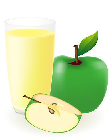 ilustração em vetor suco de maçã verde
