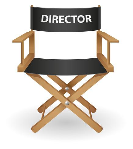 Ilustración de vector de director película silla