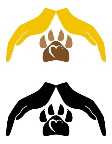 concepto de protección y amor de los animales vector illustration