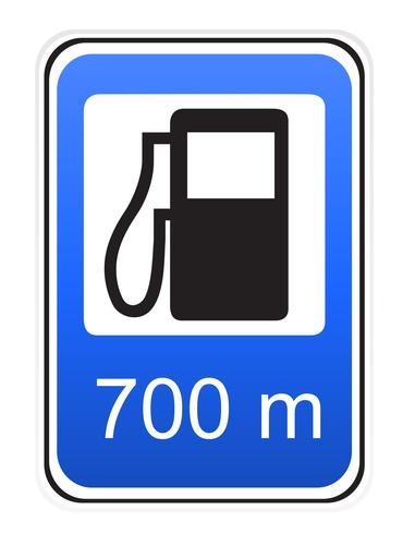 Ilustración de vector de reaprovisionamiento de carretera