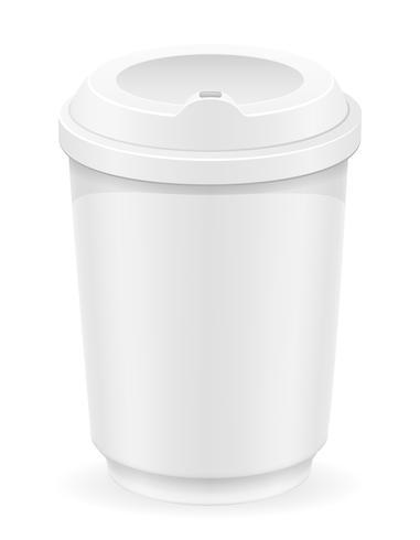 weiße Schale für Kaffee- oder Teevektorillustration