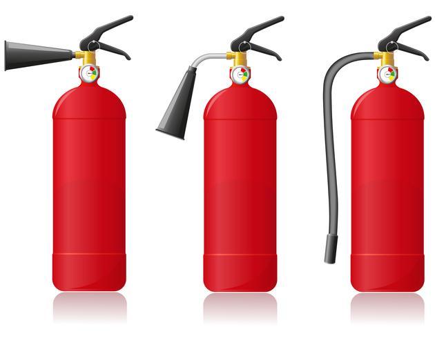 Ilustración de vector de extintor de incendios