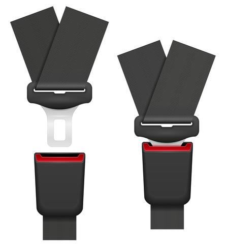 car seat belt for safety in case of accident vector illustration