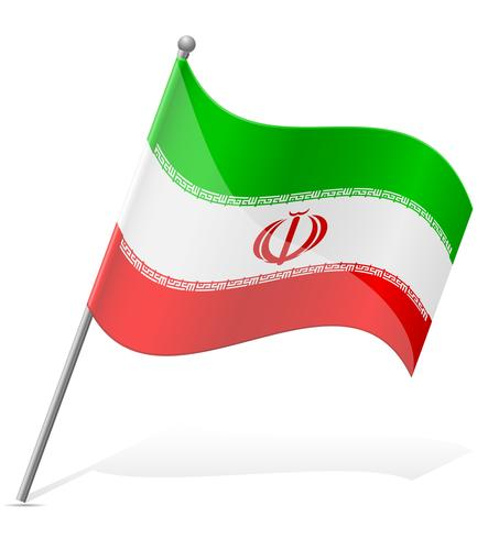 flag of Iran vector illustration