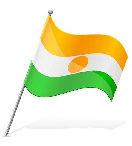 flagga av Niger vektor illustration
