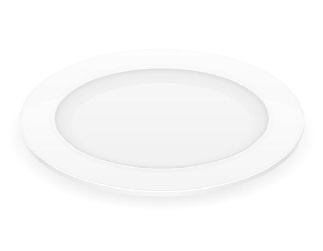 illustration vectorielle de plaque de porcelaine