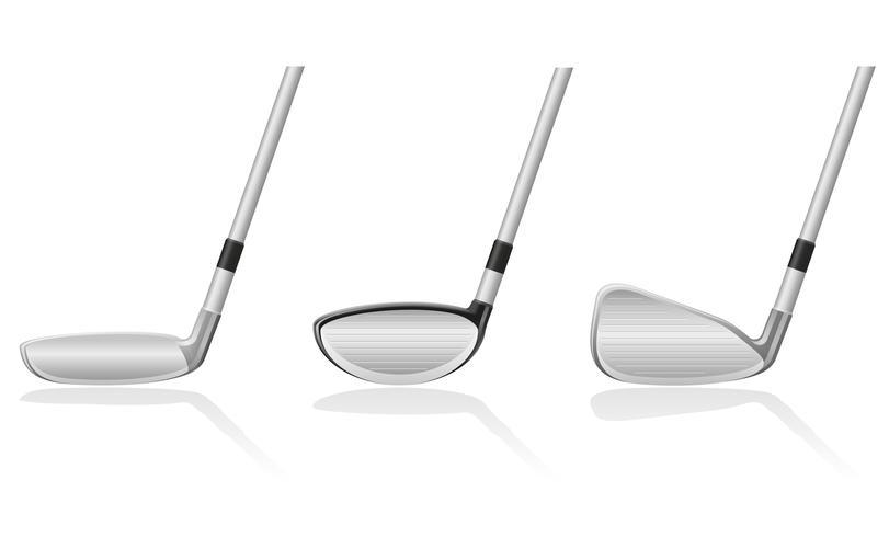 Ilustración de vector de club de golf