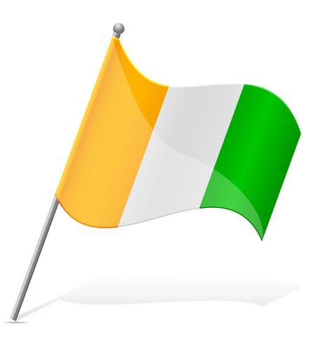 Flagge der Elfenbeinküste-Vektorillustration
