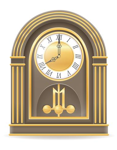 clock old retro icon stock vector illustration