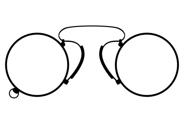 pince-nez vieux rétro icône vintage vector illustration