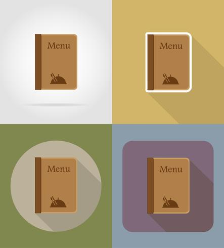 menu objects and equipment for the food vector illustration