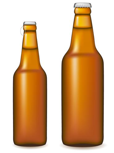 beer bottle vector illustration