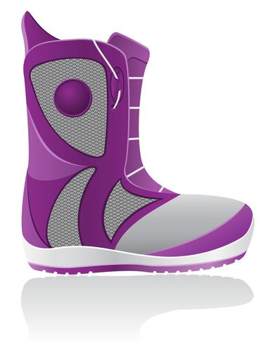 boot for snowboarding vector illustration