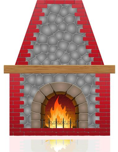 ilustración vectorial chimenea vector