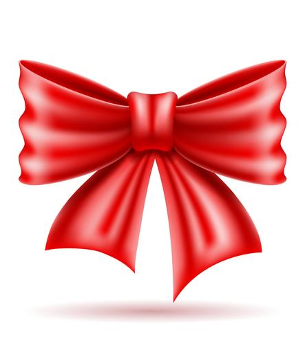 red bow realistic vector illustration