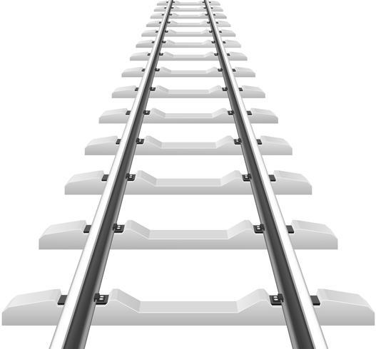 Schienen mit Betonschwellen Vektor-Illustration vektor