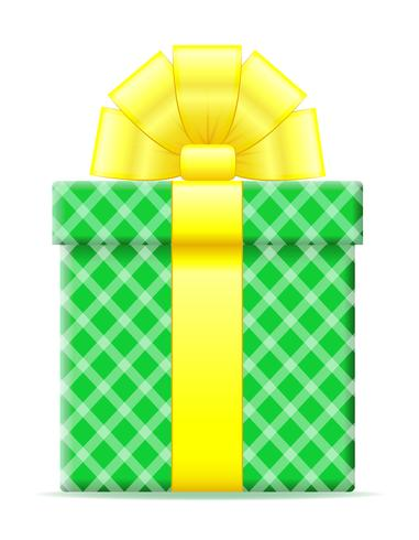 gift box with a bow vector illustration