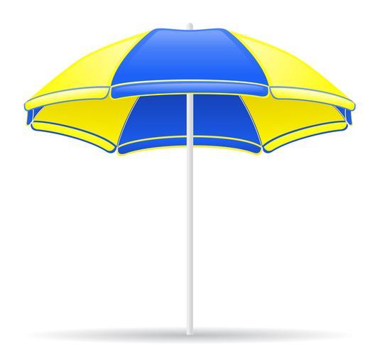 illustrazione vettoriale di colore spiaggia ombrello