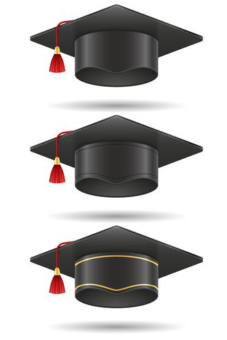 academic graduation mortarboard square cap vector illustration