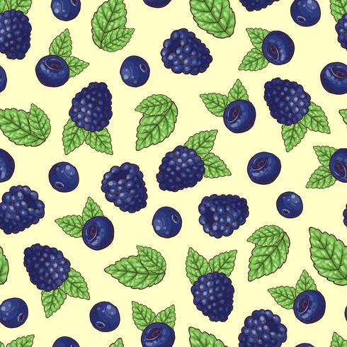 Seamless pattern of vector illustration