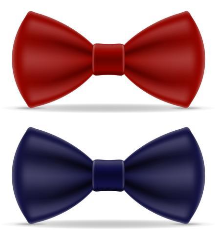 gravata vermelha e azul para homens uma ilustração do vetor de terno