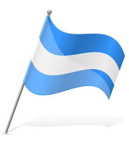 bandeira da ilustração vetorial de Nicarágua