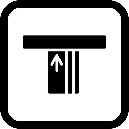 disegno dell'icona di atm vettore