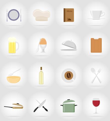 objets et équipements pour l'illustration vectorielle alimentaire