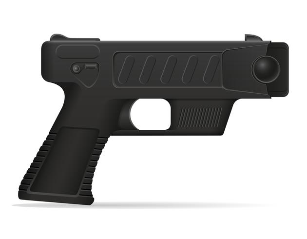 arma de aturdimiento arma autodefensa vector ilustración