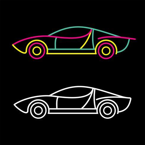 Neonreclame voor sportwagens