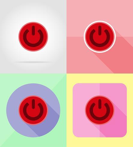 service macht plat pictogrammen vector illustratie