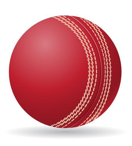 Ilustración de vector de bola de criket