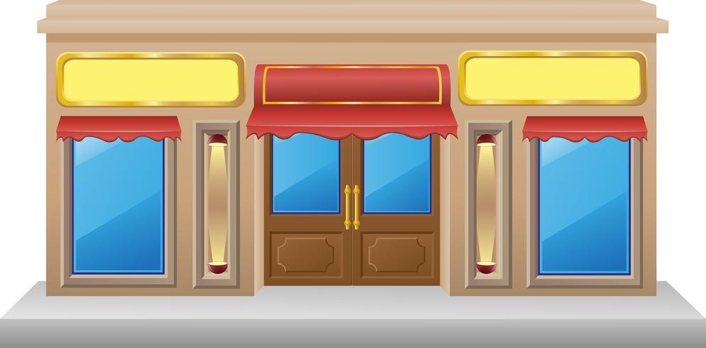 shop fasad med en showcase