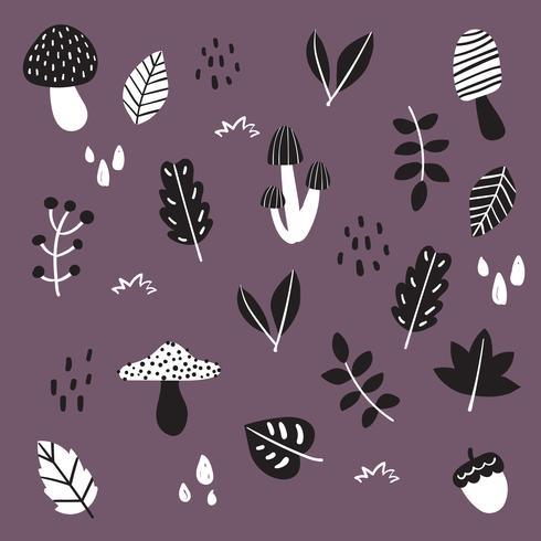 diseño de colección de vectores de otoño