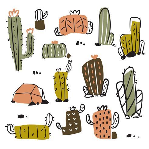 diseño de colección de vectores de cactus