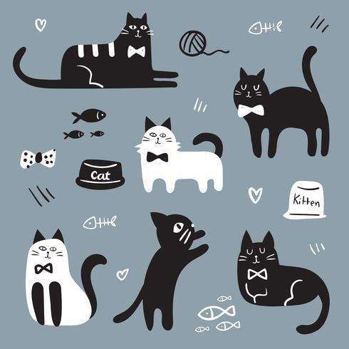 diseño del vector del carácter del gato