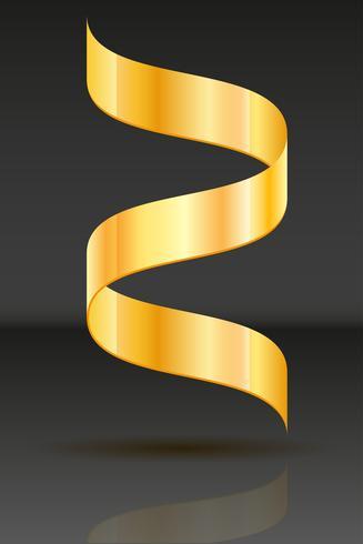 illustrazione vettoriale realistico nastro d'oro