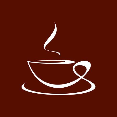 Coffee cup - line art