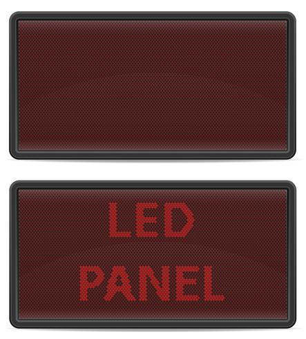 illustration vectorielle de led panneau tableau de bord numérique
