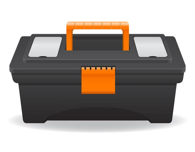 ilustração de vetor de caixa de ferramentas de plástico