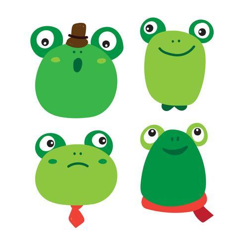 diseño del vector del carácter de la rana