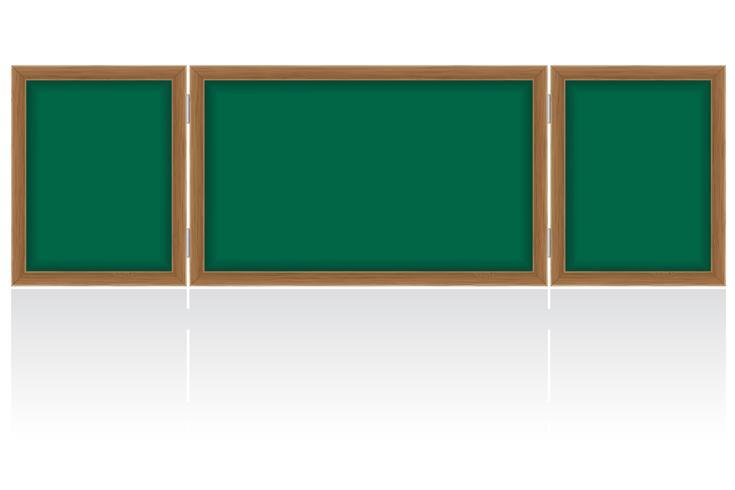 Consejo escolar de madera para escribir tiza ilustración vectorial vector
