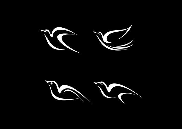 Conjunto de iconos de vector de aves