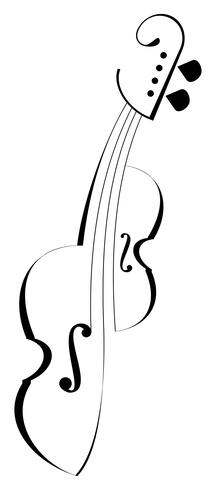 Violin - isolated vector icon