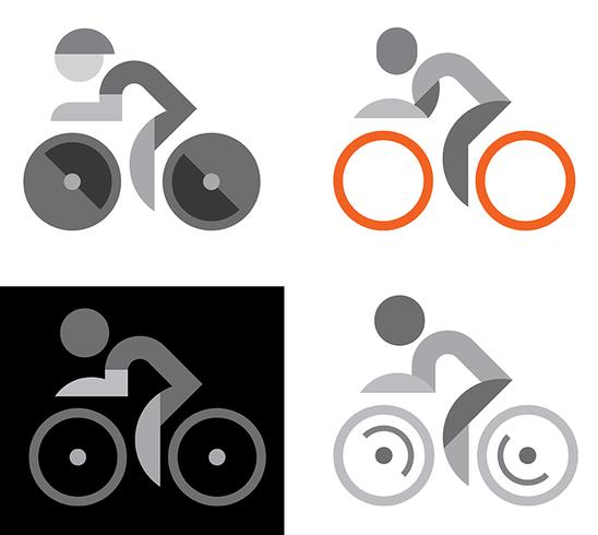 Segni di ciclista
