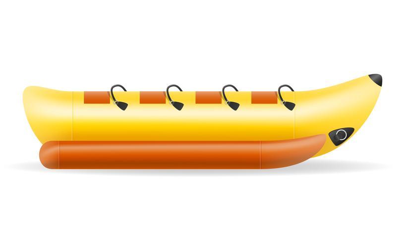 bateau pneumatique banane pour illustration vectorielle d'amusement de l'eau