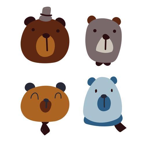 bear character vector design