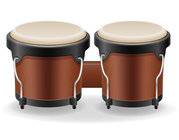Bongo tambores instrumentos musicales stock vector ilustración